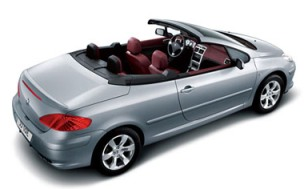 Rent a car Peugeot 307 CC Cabriolet 2.0 Petrol Automatic in Varna or Burgas