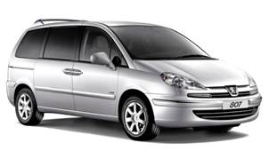 rental car Peugeot 807 2.0 Petrol 6+1 seats Automatic