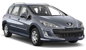 Car rental Peugeot 308 SW Estate 2.0 Petrol 6+1 seats Automatic